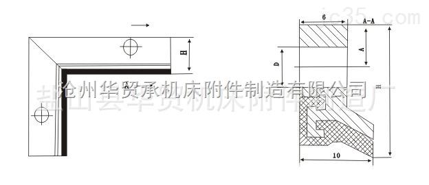 沧州华贸承机床导轨刮屑板
