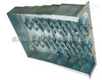 机床钢板式伸缩防护罩装配模型